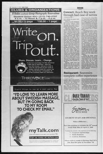 Daily Trojan, Vol. 138, No. 44, November 02, 1999