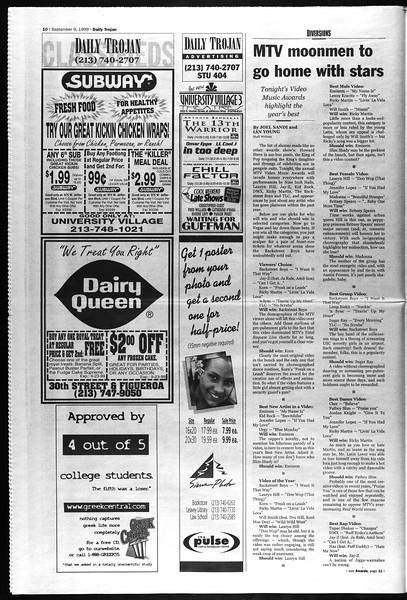 Daily Trojan, Vol. 138, No. 7, September 09, 1999