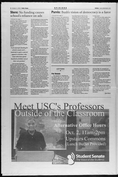 Daily Trojan, Vol. 147, No. 26, October 02, 2002