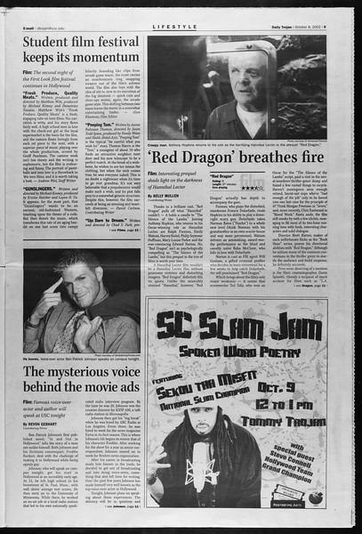 Daily Trojan, Vol. 147, No. 30, October 08, 2002