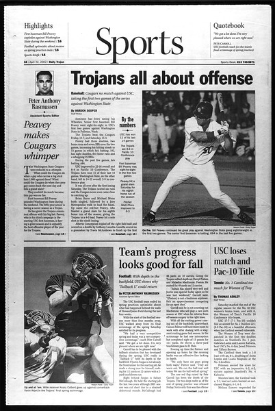 Daily Trojan, Vol. 145, No. 64, April 22, 2002