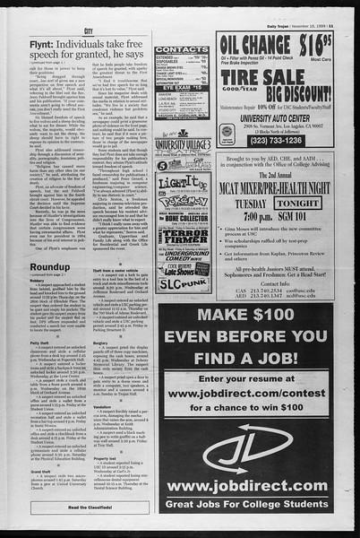 Daily Trojan, Vol. 138, No. 54, November 16, 1999