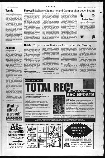 Summer Trojan, Vol. 146, No. 3, May 29, 2002