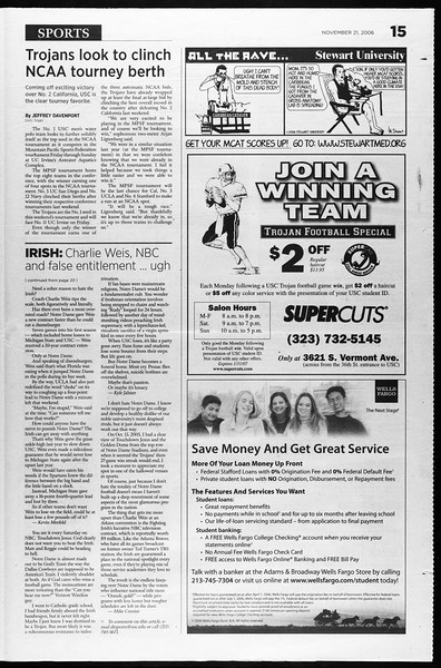 Daily Trojan, Vol. 159, No. 64, November 21, 2006