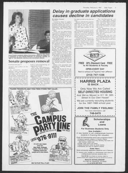 Daily Trojan, Vol. 103, No. 18, February 05, 1987