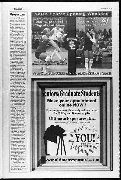 Daily Trojan, Vol. 159, No. 31, October 04, 2006