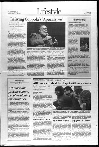 Daily Trojan, Vol. 159, No. 5, August 25, 2006