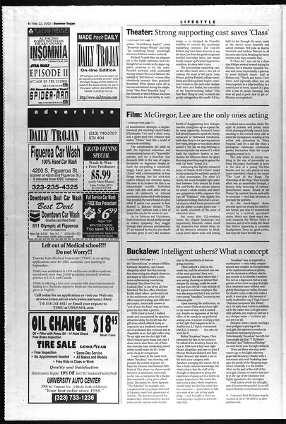 Summer Trojan, Vol. 146, No. 2, May 22, 2002