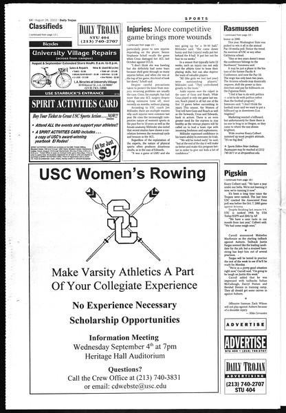 Daily Trojan, Vol. 147, No. 3, August 28, 2002