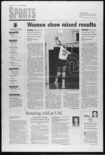 Daily Trojan, Vol. 138, No. 32, October 14, 1999