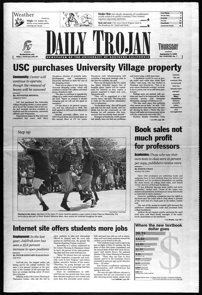 Daily Trojan, Vol. 138, No. 7, September 09, 1999