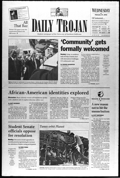 Daily Trojan, Vol. 145, No. 33, February 27, 2002