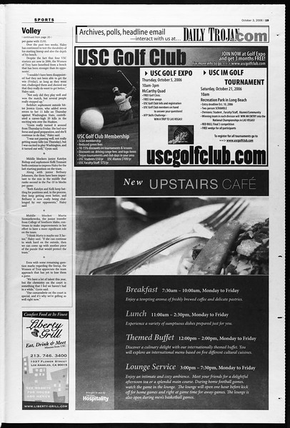 Daily Trojan, Vol. 159, No. 30, October 03, 2006