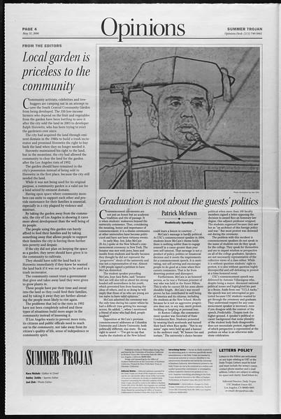 Summer Trojan, Vol. 158, No. 3, May 31, 2006