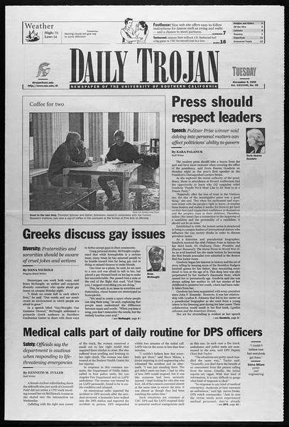 Daily Trojan, Vol. 138, No. 49, November 09, 1999