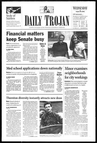 Daily Trojan, Vol. 147, No. 3, August 28, 2002
