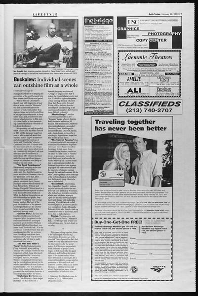 Daily Trojan, Vol. 145, No. 4, January 11, 2002