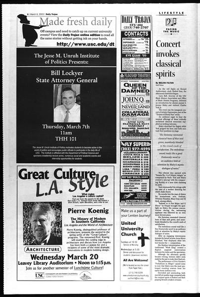 Daily Trojan, Vol. 145, No. 38, March 06, 2002