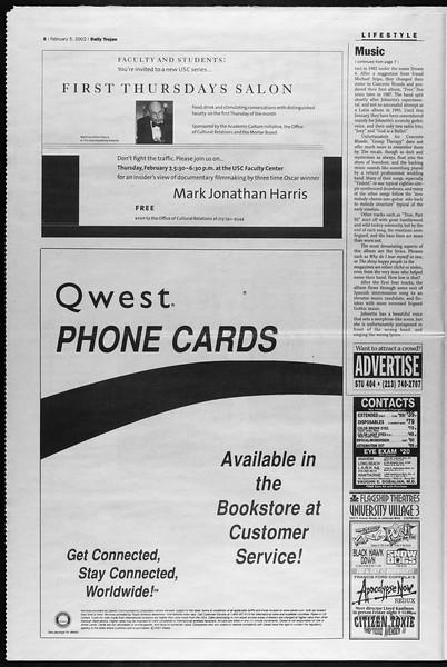 Daily Trojan, Vol. 145, No. 19, February 05, 2002