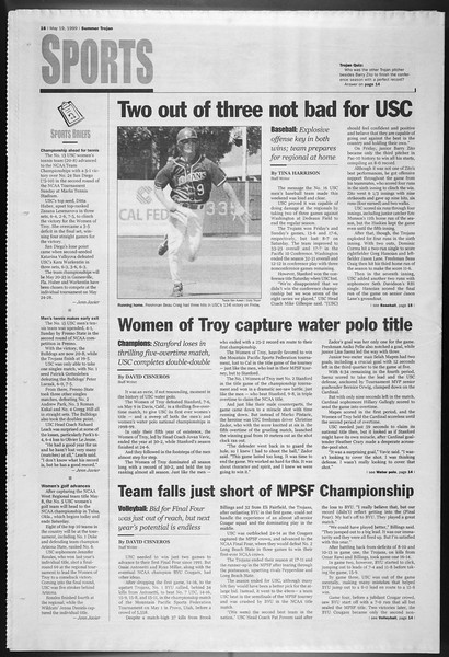 Summer Trojan, Vol. 137, No. 1, May 19, 1999