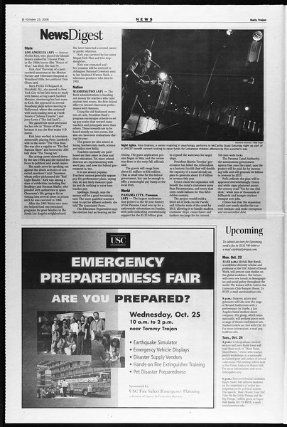 Daily Trojan, Vol. 159, No. 44, October 23, 2006