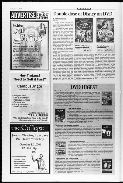 Daily Trojan, Vol. 159, No. 37, October 12, 2006