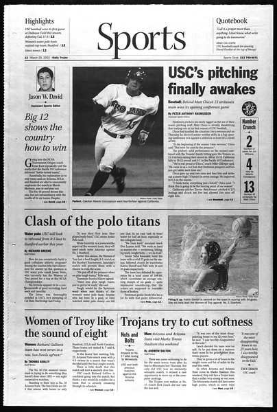Daily Trojan, Vol. 145, No. 48, March 29, 2002