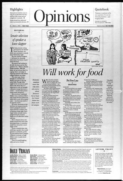 Daily Trojan, Vol. 145, No. 35, March 01, 2002