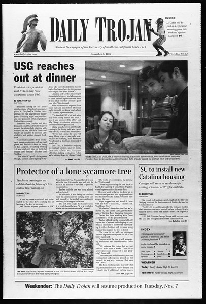 Daily Trojan, Vol. 159, No. 53, November 03, 2006