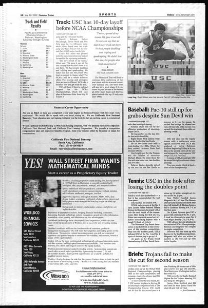 Summer Trojan, Vol. 146, No. 2, May 22, 2002