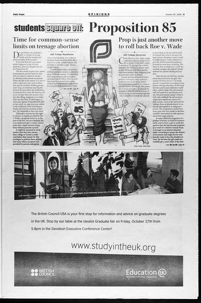 Daily Trojan, Vol. 159, No. 47, October 26, 2006