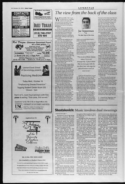 Daily Trojan, Vol. 147, No. 36, October 16, 2002