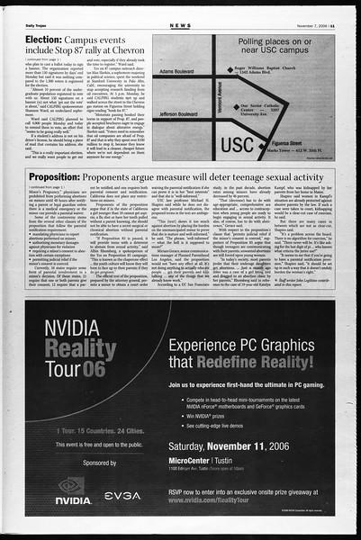 Daily Trojan, Vol. 159, No. 54, November 07, 2006