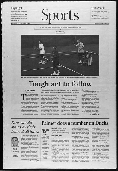 Daily Trojan, Vol. 147, No. 45, October 29, 2002
