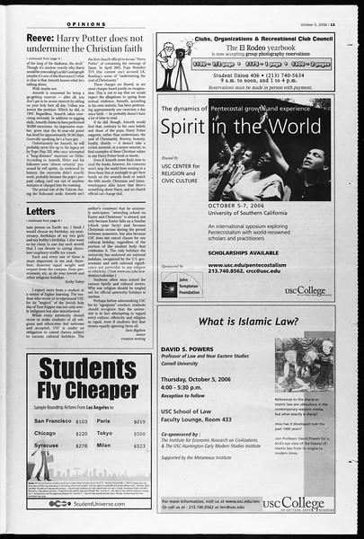 Daily Trojan, Vol. 159, No. 32, October 05, 2006
