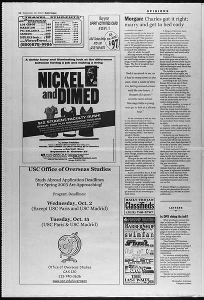 Daily Trojan, Vol. 147, No. 17, September 19, 2002
