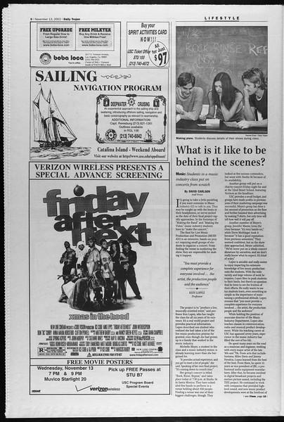 Daily Trojan, Vol. 147, No. 55, November 13, 2002