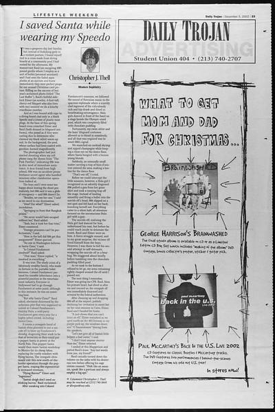 Daily Trojan, Vol. 147, No. 67, December 05, 2002