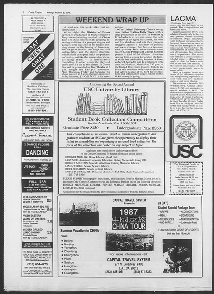 Daily Trojan, Vol. 103, No. 37, March 06, 1987