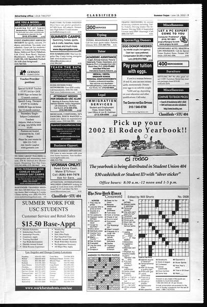 Summer Trojan, Vol. 146, No. 6, June 19, 2002