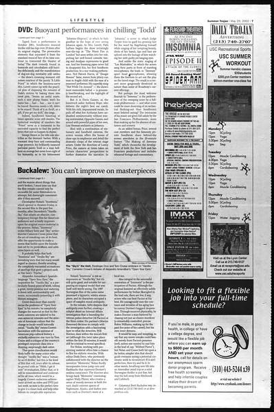 Summer Trojan, Vol. 146, No. 3, May 29, 2002