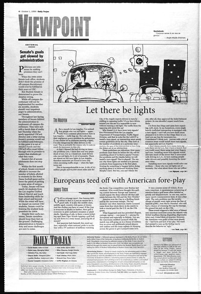 Daily Trojan, Vol. 138, No. 23, October 01, 1999