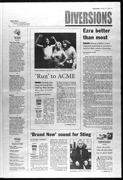 Daily Trojan, Vol. 138, No. 30, October 12, 1999