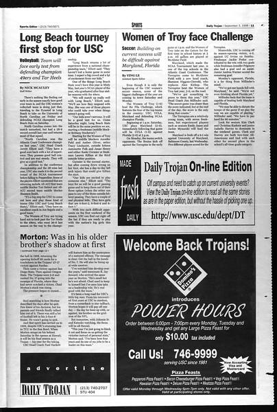 Daily Trojan, Vol. 138, No. 5, September 03, 1999