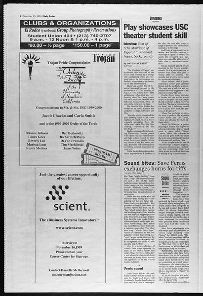 Daily Trojan, Vol. 138, No. 53, November 15, 1999