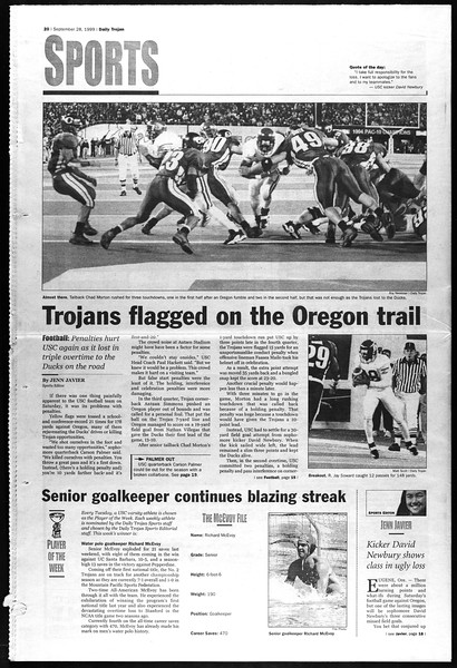 Daily Trojan, Vol. 138, No. 20, September 28, 1999