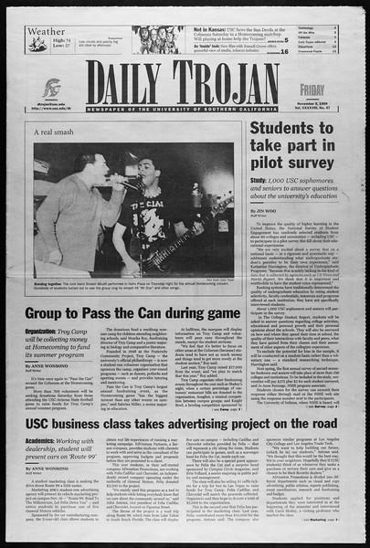 Daily Trojan, Vol. 138, No. 47, November 05, 1999