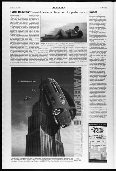 Daily Trojan, Vol. 159, No. 32, October 05, 2006