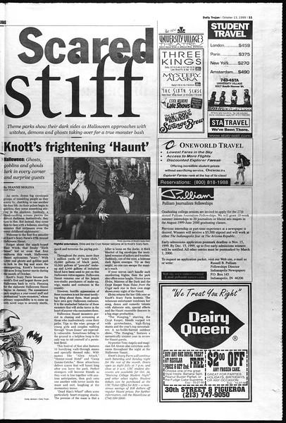 Daily Trojan, Vol. 138, No. 31, October 13, 1999