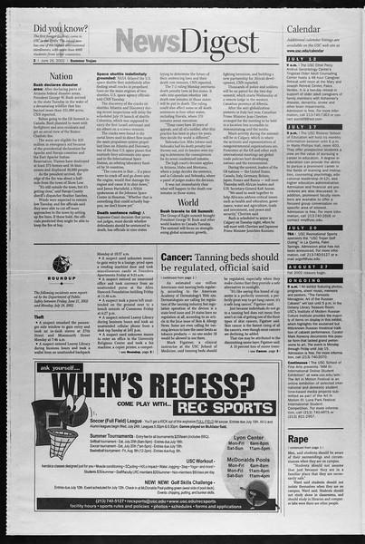 Summer Trojan, Vol. 146, No. 7, June 26, 2002